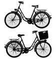 two retro bicycles vector image vector image