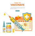 vaccination concept banner vector image vector image