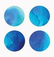 watercolor circles round shapes set vector image