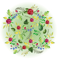 watercolor floral elements set vector image