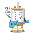 with guitar easel mascot cartoon style vector image