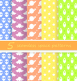 5 seamless space patterns vector image