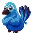 A big blue bird vector image vector image