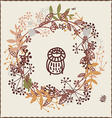Autumn design with owl vector image