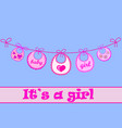 baby bib for girl vector image vector image