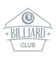 billiard logo simple gray style vector image vector image