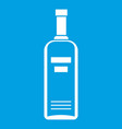 bottle of vodka icon white vector image vector image