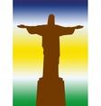 Brazil Statue of Jesus vector image