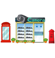 Camera shop vector image