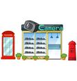Camera shop vector image vector image