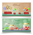 candies horizontal banners vector image