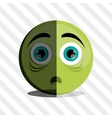 Cartoon face design vector image vector image