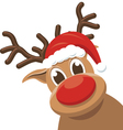 Christmas reindeer - rudolph deer vector image vector image