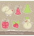 christmas scrapbook elements vector image vector image