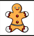 color sketch gingerbread man vector image