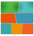 Comic book backgrounds in different colors vector image vector image