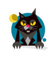 creative black cute cat logo design vector image vector image