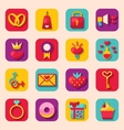 Creative Flat Design Icons for Happy Valentines vector image vector image