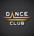 EPS10 dance club text icon vector image vector image