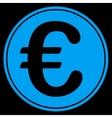 Euro coin icon vector image