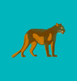 Flat shading style icon panther
