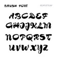 font - handwriting brush it can be used to create vector image vector image