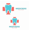 Health medical or dental logo tooth icon vector image vector image