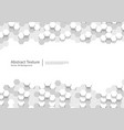 hexagonal white abstract background 3d hexagons vector image vector image