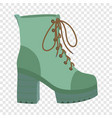 hight woman boot icon flat style vector image vector image