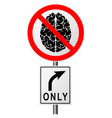 infographics with a sign on the road prohibiting vector image vector image