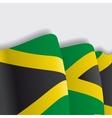 Jamaican waving Flag vector image vector image
