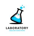 laboratory logo vector image vector image