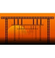 landscape high voltage power transmission vector image vector image