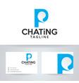 letter p chatting logo design vector image vector image