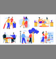 lgbt couples or family set vector image vector image