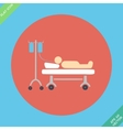 Life icons hospitalized with serum vector image vector image