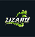 lizard mascot esport logo vector image