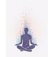 meditation enlightenment sensation vibrations vector image