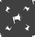Megaphone soon icon Loudspeaker symbol Seamless vector image