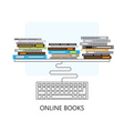 Modern flat concept design on online books vector image vector image
