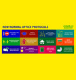 office protocol poster or public health vector image vector image