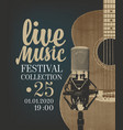Poster for live music festival with guitar and mic