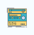 rack component module sound studio flat icon vector image