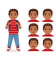 school boy emotions vector image