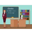 School Literature female teacher in audience class vector image vector image