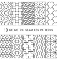 Seamless Geometric Pattern Set Ten Tiled