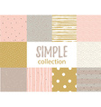 seamless patterns with universal simple textures vector image