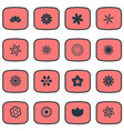 set of simple rose icons vector image vector image