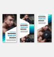 set of web banners with color elements and white vector image vector image