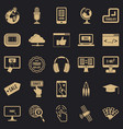 Site building icons set simple style